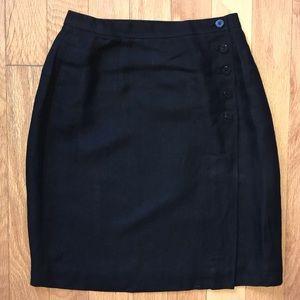 Ann Taylor Petite Skirt with Button Detail sz 4 4P